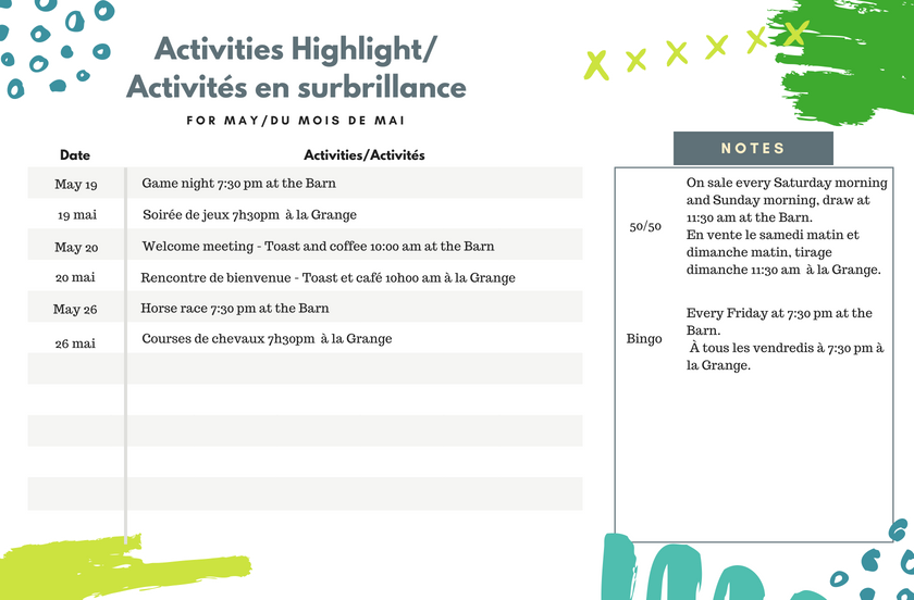 Activities and Event